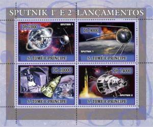 St Thomas - Sputnik Anniversary  Sheet of 4 ST7110a