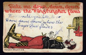 US STAMP ''TAKE ME DOWN, DOWN, DOWN PICTURE POST CARD