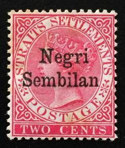 Malaya Negeri Sembilan 1891 opt Straits Settlements QV 2c MH SG#1 M1961