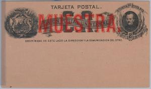 COSTA RICA -  POSTAL STATIONERY CARD: Higgings & Gage # 1 - MUESTRA / SPECIMEN
