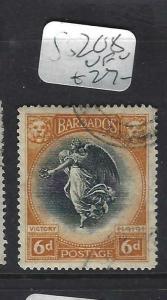 BARBADOS  (PP1903B)  VICTORY 6D  SG 208   VFU