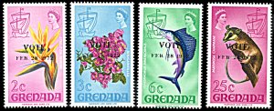 Grenada Michel 436-439, MNH, 1972 Vote Overprint