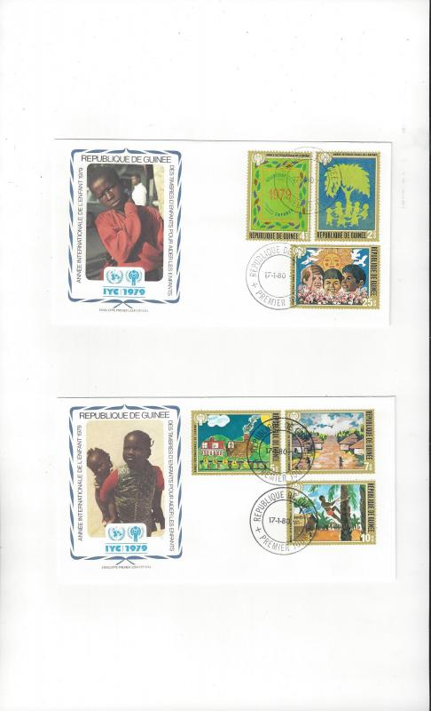 Guinea FDC 1979 International Year of the Child Official Cachet