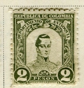 COLOMBIA ANTIOQUIA; 1899 early Bolivar issue Mint hinged 2P. value