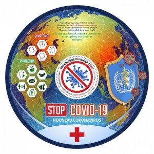 NIGER - 2020 - COVID-19 - Perf Souv Sheet - Mint Never Hinged