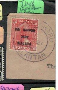 MALAYA JAPANESE OCCUPATION PERAK (P1607B) 8C  DN SG J248 PIECE KOTA BHARU KELANT