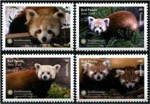 2021 Vanuatu Red Panda (4) (Scott NA) MNH