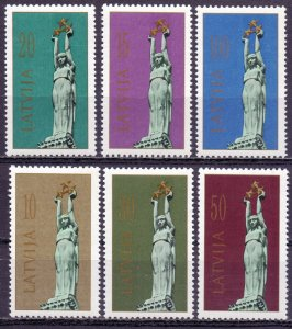 Latvia. 1991. 317-22. Sculpture of liberty. MNH.