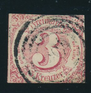 Thurn & Taxis, Southern District (German State) Stamp Scott #53, Used, Cut Close