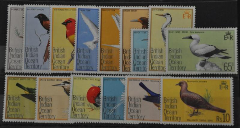 DYNAMITE Stamps: British Indian Ocean Territory Scott #63-77 – MNH