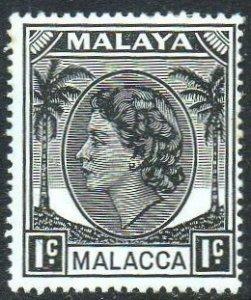 Malacca 1955 1c black MH