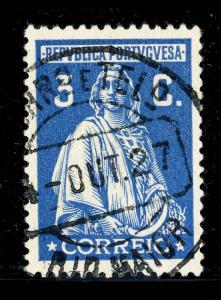 PORTUGAL 1927  RIO MAIOR  Date Stamp on Mi.407 3c CERES