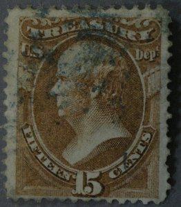 United States #O79 15 Cent Treasury Revenue Used