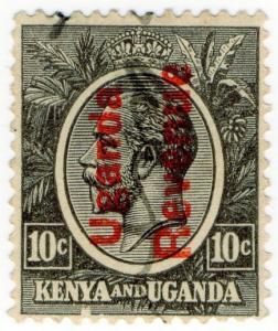 (I.B) KUT Revenue : Uganda Duty 10c (1927)