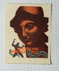 Bayeriifche Handicraft Exhibition Munich DE Expoistion Poster Stamp Ads