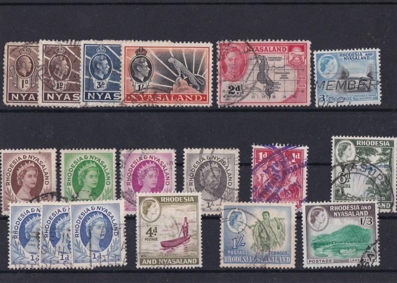RHODESIA AND NYASALAND USED  STAMPS  . REF 1380