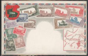 Tunisia Ottmar Zieher Flat OZ stampcard No.71