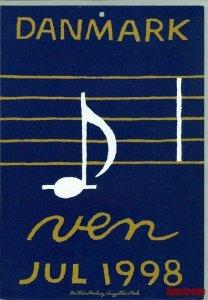 Denmark. Christmas Seal. 1998. 1 Post Office,Display,Advertising Sign. Music