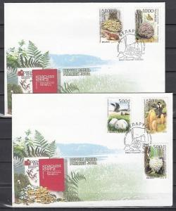Belarus, Scott cat. 741-745. Mushrooms issue on a First day cover. *