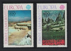 Turkey Europa Landscapes 2v 1977 MNH SC#2051-2052 SG#2577-2578 MI#2415-2416