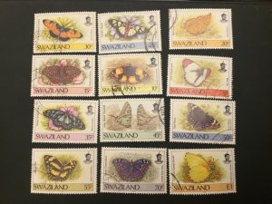 ICOLLECTZONE Swaziland 506-516 VF used butterflies
