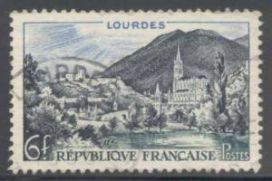 France ~ #719 ~ View of Lourdes ~ Used