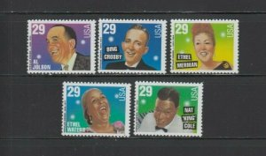 US,2849-53,POPULAR SINGERS,MNH,1990'S COLLECTION,MINT NH OG,VF