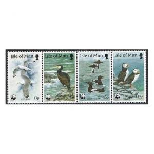 Isle of Man 399-402a,MNH.Michel 408-411. WWF 1989.Puffin,Guillemot,Kittiwake.