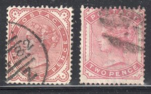 Great Brittain #80-81 Used  ---  C$150,00 -  Special cancel