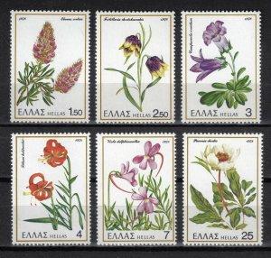 Greece MNH 1243-8 Greek Flowers 1978