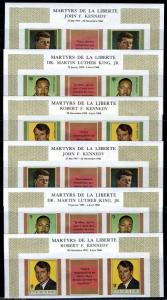 GUINEA MARTYRS OF LIBERTY JF & RF KENNEDY  MARTIN L. KING JR STRIPS FRENCH IMPF