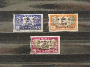 6374   Wallis Futuna   MH # 120, 121, 123                      CV$ 12.00