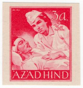 (I.B) India Cinderella : Azad Hind 3a + 3a (proof)