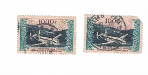 983 - France (1000 Fr) 1954 - Postage stamps Airmail [Stamp] Mint conditions