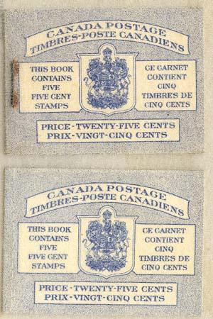 Canada - 1954 5c Beaver Our First Animal Booklets Stitched/Stapled #BK48a & b