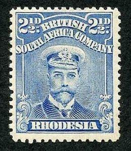 Rhodesia Admiral 2 1/2d Perf 14 M/M (hinger remainder)
