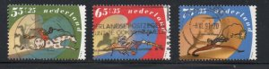 Netherlands Sc B653-55 1990 Child Welfare stamp set used