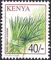 Kenya # 759 used ~ 40sh Fibrous Plant - Sisal