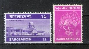 Bangladesh 1973 Tiger Court of Justice Definitive Series 2v MNH # 183