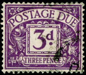 SGD30, 3d violet, FINE USED. WMK GVIR