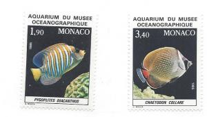 Monaco, 1560-61, Fish/Aquarium Type Singles, **MNH**