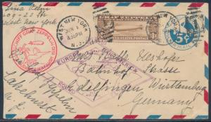 #C14 ON #UC1 ENTIRE ZEPPELIN 1ST PAN-AM EUROPE ROUND FLT USA TO GERMANY BT7901