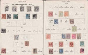 PORTO RICO - INTERESTING MINT & USED COLLECTION REMOVED FROM ALBUM PAGES - X391