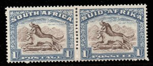 South Africa 1939 KGVI 1/- pair SG 62 mint