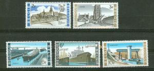 Belgium MNH 707-11 Churches & Canal Locks 1968
