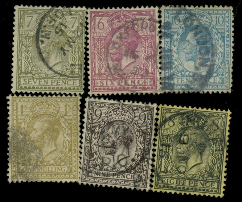 Great Britain #167-172 Used F-VF CAt$67.25
