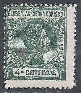 ELOBEY, ANNOBON Y CORISCO 42 MNH 176A-5