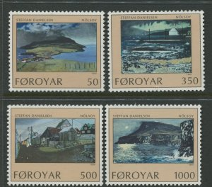 STAMP STATION PERTH Faroe Is.#212-215 Pictorial Definitive Iss.MNH 1990 CV$8.50