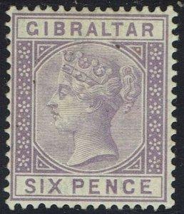 GIBRALTAR 1886 QV 6D