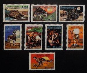 Libya MNH 797-804 Various Animals Wildlife 1979 FULL SET!!!!